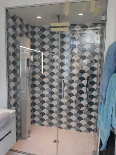 Cabine de douche en verre sur mesure à Paris 75008